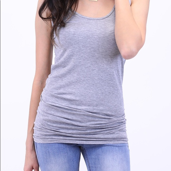a6b756bf32b7 Grace and Lace Tops - Grace   Lace Perfect Fit Tank Long Gray OS